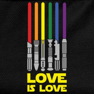 Lightsaber Rainbow, Love Is Love T-Shirts - Kids' Backpack