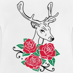 Deer with roses, Oktoberfest Shirts - Baby T-Shirt