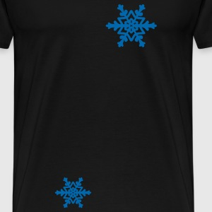 Black Snowflakes Coats & Jackets - Men's Premium T-Shirt