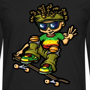 rastaboy and skate - T-shirt manches longues Premium Homme