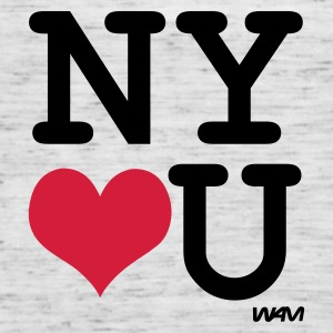 Heather grey new york loves you by wam Jumpers  - Women's Tank Top by Bella