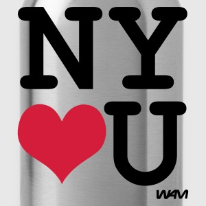 Heather grey new york loves you by wam Jumpers  - Water Bottle