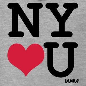 Heather grey new york loves you by wam Jumpers  - Men's Premium Hooded Jacket