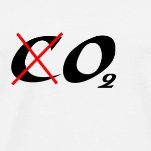 Blanc Not CO2 but O2 Badges - T-shirt Premium Homme