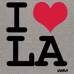 Heather grey I LOVE LA - los angeles by wam Jumpers - Snapback Cap
