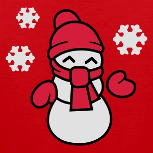 Red Snowman  Aprons - Men's Premium Tank Top
