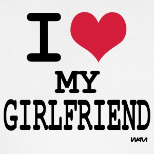 Blanca/negro i love my girl friend by wam Camisetas de manga larga - Gorra béisbol