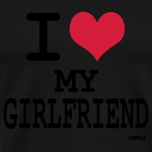 Zwart i love my girlfriend by wam Sweaters - Mannen Premium T-shirt