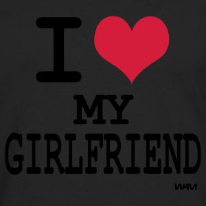 Zwart i love my girlfriend by wam Sweaters - Mannen Premium shirt met lange mouwen