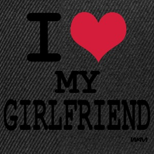 Zwart i love my girlfriend by wam Sweaters - Snapback cap
