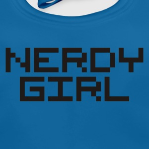 Royalblau nerdy girl pc geek nerd Kinder T-Shirts - Baby Bio-Lätzchen