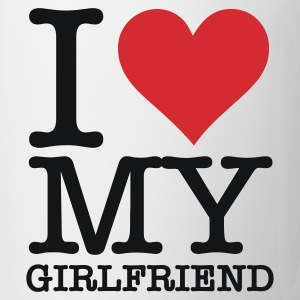 Bianco I Love My Girlfriend (2c, NEU) T-shirt - Tazza