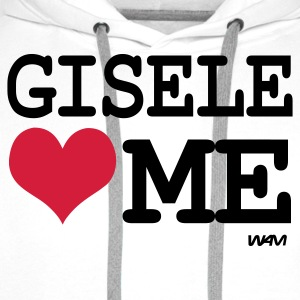 Blanc/noir gisele loves me by wam T-shirts - Sweat-shirt à capuche Premium pour hommes