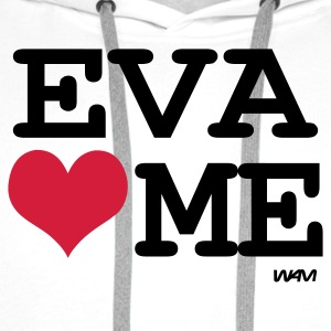 Blanc/noir eva loves me by wam T-shirts - Sweat-shirt à capuche Premium pour hommes