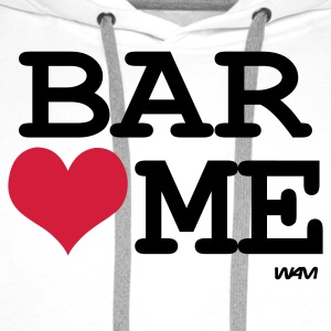 Blanc/noir bar loves me by wam T-shirts - Sweat-shirt à capuche Premium pour hommes