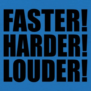 Blu royal Faster Harder Louder IT Borse - Maglietta da uomo