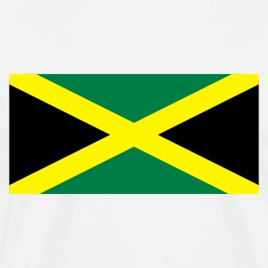 White Jamaican Flag Long Sleeve Shirts - Men's Premium T-Shirt