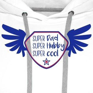 Super Dad - Super hubby - Super cool Peluches - Sweat-shirt à capuche Premium pour hommes