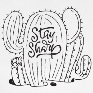 Stay Sharp | Cool Cactus Illustration Design Tee shirts - Casquette classique
