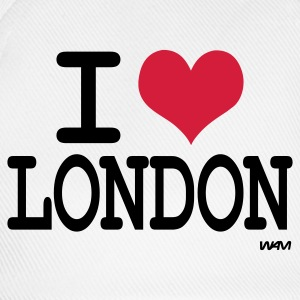 Hvid/sort i love london by wam Shirts med lange ærmer - Baseballkasket