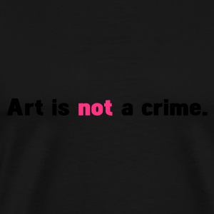 Schwarz art is not a crime Pullover - Männer Premium T-Shirt