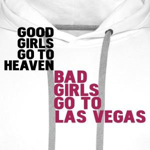 Wit bad girls go to las vegas T-shirts - Mannen Premium hoodie