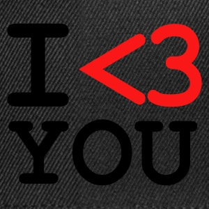 Zwart I LOVE YOU T-shirts - Snapback cap