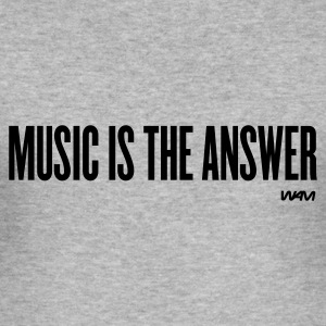 Grau meliert music is the answer by wam Pullover - Männer Slim Fit T-Shirt
