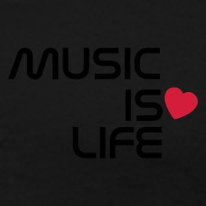 Sort music is life heart DK Jakker - Herre premium T-shirt