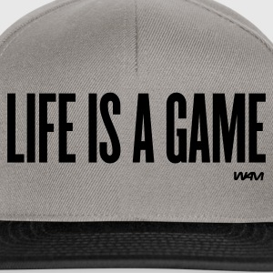 Grigio melange life is a game by wam Pullover - Snapback Cap