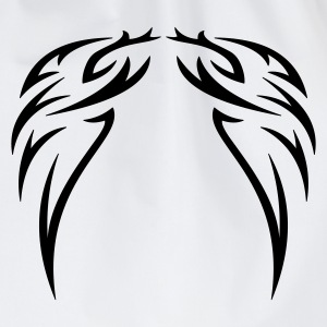 tattoo wings - Drawstring Bag
