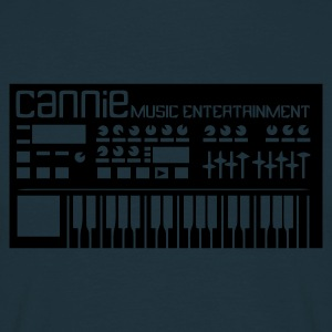 Herren Kapuzen Pullover Synthesizer glow in the dark, hinten Logo - Männer T-Shirt