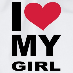 I love my Girl, Girl, Girlfriend, Partner, Beziehung, Sex, Liebe, Love, eushirt.com - Turnbeutel