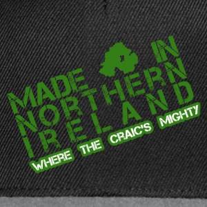 Black Made in Northern Ireland Men's T-Shirts - Snapback Cap