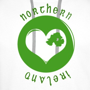 White northern_ireland_heart Mugs  - Men's Premium Hoodie