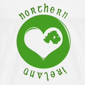 White northern_ireland_heart Mugs  - Men's Premium T-Shirt