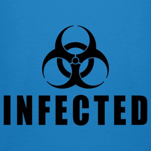 Blu pavone infected biohazard IT Borse - T-shirt ecologica da uomo