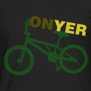 Black On Yer Bike Men's T-Shirts - Men's Premium Longsleeve Shirt
