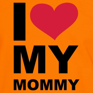 I love my mommy, Mama, Mommy, Mutter, Mother, Kinder, Childs, Children, Love, Liebe, Geschenke, gifts, eushirt.com - Männer Kontrast-T-Shirt