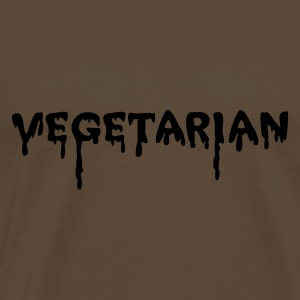 Chocolate vegetarian vampire Long Sleeve Shirts - Men's Premium T-Shirt