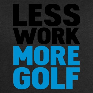 Svart less work more golf T-shirts - Sweatshirt herr från Stanley & Stella