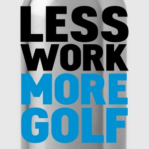 Svart less work more golf T-shirts - Vattenflaska