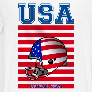 Blanc USA team Sweatshirts - T-shirt Premium Homme