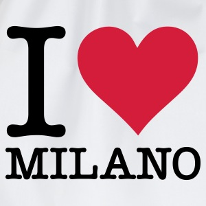 White I Love Milano (2c, NEU) Men's T-Shirts - Drawstring Bag