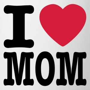 Vit i love mom SE Babybody - Mugg