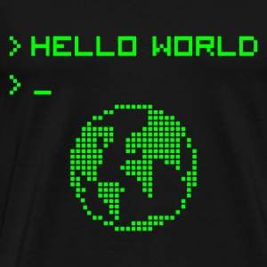 Hello World Baby Body - Männer Premium T-Shirt