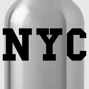 Grau meliert nyc - new york city Pullover - Trinkflasche