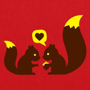 Rouge squirrels in love - to give each other T-shirts - Tote Bag