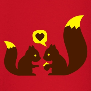 Rouge squirrels in love - to give each other T-shirts - T-shirt manches longues Bébé