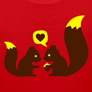 Rouge squirrels in love - to give each other T-shirts - Débardeur Premium Homme